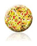 Colorful Sphere with colored squares. On white background isolated Stock Image