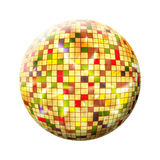 Colorful Sphere with colored squares on white background. Isolated Royalty Free Stock Images
