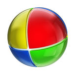 Colorful sphere. 3d illustration of abstract colorful sphere Royalty Free Stock Images