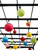 Colorful sphere lamps. Royalty Free Stock Images
