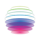 Colorful sphere on white. Colorful spiral-like sphere on white background Royalty Free Stock Image