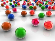 Colorful spheres. Colorful bright spheres 3d render Royalty Free Stock Photos