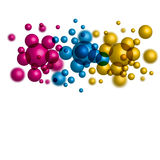 Colorful spheres. On white background Royalty Free Stock Photos