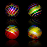 Colorful spheres Stock Image