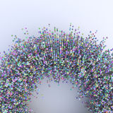 Colorful spheres background. Many colorful spheres abstract background stock illustration