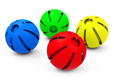 The colorful spheres Stock Image
