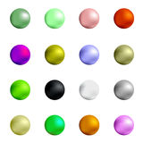 Colorful Spheres. Set of Colorful Spheres Isolated on White Background vector illustration