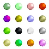 Colorful Spheres. Set of Colorful Spheres Isolated on White Background Stock Photo