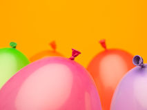 Colorful spheres with tail Royalty Free Stock Image
