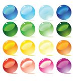Colorful spheres. Vector. Set of colorful spheres. Vector illustration Royalty Free Stock Image
