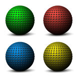 Colorful spheres. Vector illustration. Royalty Free Stock Photo