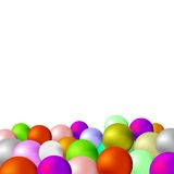 Colorful Spheres. On White Background for Your Design Stock Photo