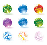 Colorful spherical icons Stock Photography