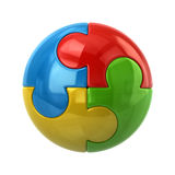 Colorful spherical puzzle icon Royalty Free Stock Photos