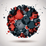 Colorful spherical spotted element, decorative icon. Stock Photography