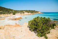Colorful Spiaggia del Principe. In Costa Smeralda, Sardinia Stock Photos
