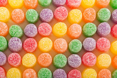 Colorful spice drops candy covered with sugar crystals Royalty Free Stock Photo