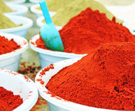 Colorful spices. In the shop Royalty Free Stock Image