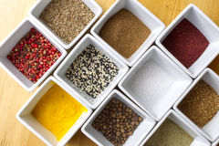 Colorful Spices Background Stock Photos