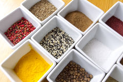 Colorful Spices Background Stock Photo
