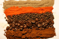 Colorful spices & coffee Royalty Free Stock Image