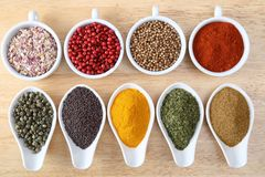 Colorful spices. Stock Photos