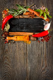 Colorful spices and herbs.. Royalty Free Stock Photo