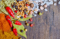 Colorful spices and herbs Stock Photo