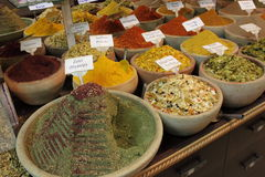 Colorful  Spices at market Stock Photography