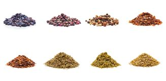 Colorful spices variety collection Royalty Free Stock Photo