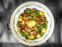 Colorful Spicy Egg Biryani stock images