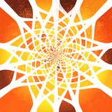 Colorful spiderweb Stock Photography