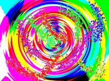 Colorful spin art Royalty Free Stock Images