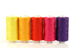 Colorful spindles of yarn Royalty Free Stock Photography