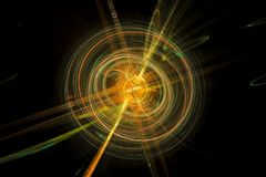 Colorful spinning energy ball with trajectories royalty free stock photos