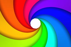 Colorful spiral. Swirl of bright colors - 3D render Royalty Free Stock Photography
