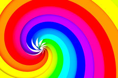 Colorful spiral. Bright colorful spiral - 3D render Stock Images