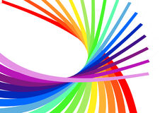 Colorful spiral. Abstract Illustration with colorful curved lines vector illustration