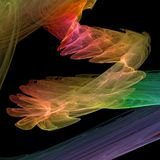 Colorful spiral. High quality abstract render, 9 mpix Stock Photo