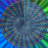 Colorful spiral. RGB spiral, representing RGB color space of monitor and TV screens. Computer generated royalty free illustration