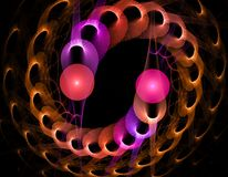 Colorful Spiral Abstract Fractal of Pink, Purple and Copper stock image