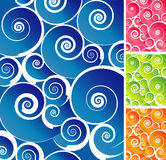 Colorful Spiral Background. Spiral Wave Pattern with colorful gradients. Easy-edit layered file stock illustration