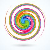 Colorful spiral Bright abstract circular rotating spiral A pattern of twisted colored lines for design and creativity Decorative. Colorful spiral. Bright stock illustration