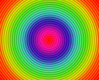 Colorful spiral circles Stock Photography