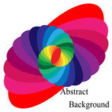 Colorful Spiral Converging to the Center. Elliptical Design Element Royalty Free Stock Image