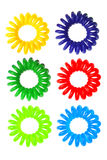 Colorful Spiral Elastic Hair Ties Stock Images