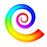 Colorful spiral element Stock Images