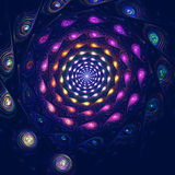 Colorful spiral fantasy in space, computer Royalty Free Stock Photography