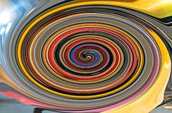 Colorful spiral fractal with diagonal len flare royalty free stock photos