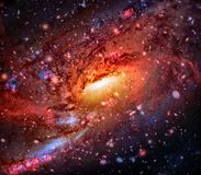 Colorful spiral galaxy in outer space. Elements of this Image furnished by NASA.  royalty free stock photo
